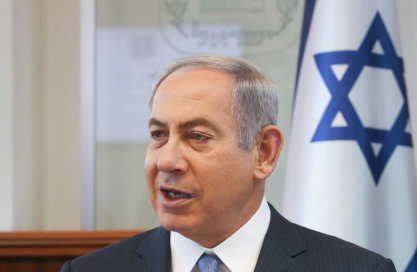 Netanyahu at cabinet meeting (photo credit: MARC ISRAEL SELLEM)