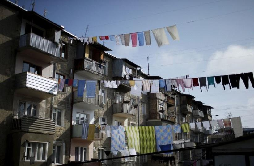 Laundry hung out to dry. (photo credit: REUTERS)