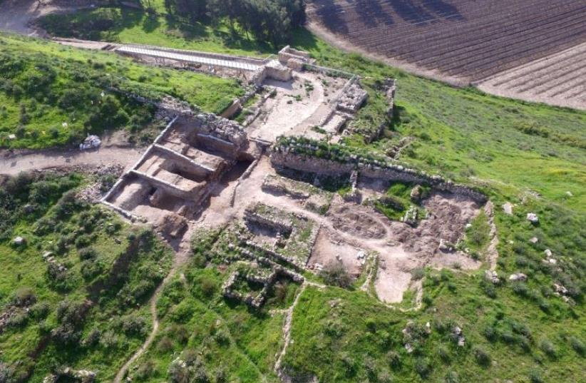The Tel Lachish National Park and gate structure that was unearthed. (photo credit: GUY FITOUSSI/ISRAEL ANTIQUITIES AUTHORITY)