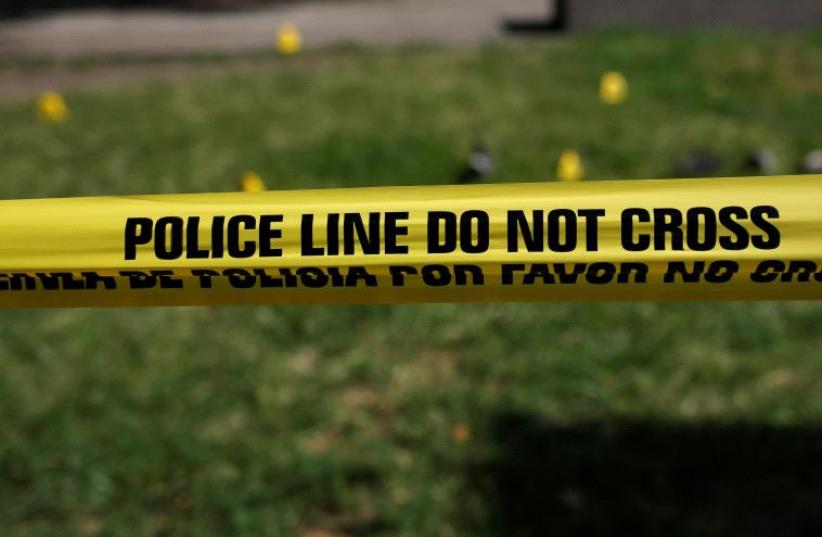 Police tape. (photo credit: REUTERS)
