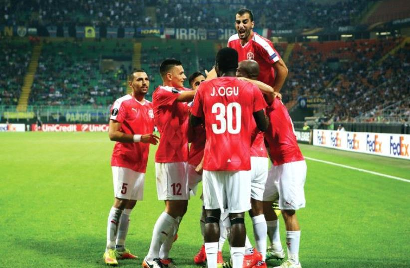 After celebrating a monumental victory over Inter Milan at San Siro in its most recent Europa League match, Hapoel Beersheba aims to register another upset when it hosts Southampton tonight at Turner Stadium. (photo credit: UDI ZITIAT)