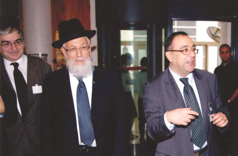 Lors des 25 ans de l'AJECLAP, avec Bernard Kassel (à gauche) et Félix Perez (photo credit: DR)