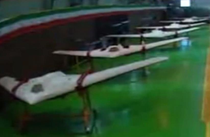 iran's Revolutionary Guard equipped with new drones (photo credit: IRANIAN MEDIA)