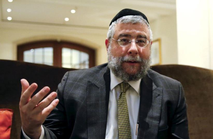 Rabbi Pinchas Goldschmidt. (photo credit: REUTERS)