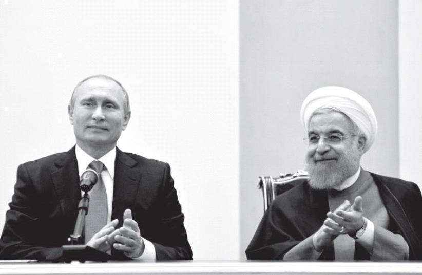 Putin and Rouhani (photo credit: REUTERS)