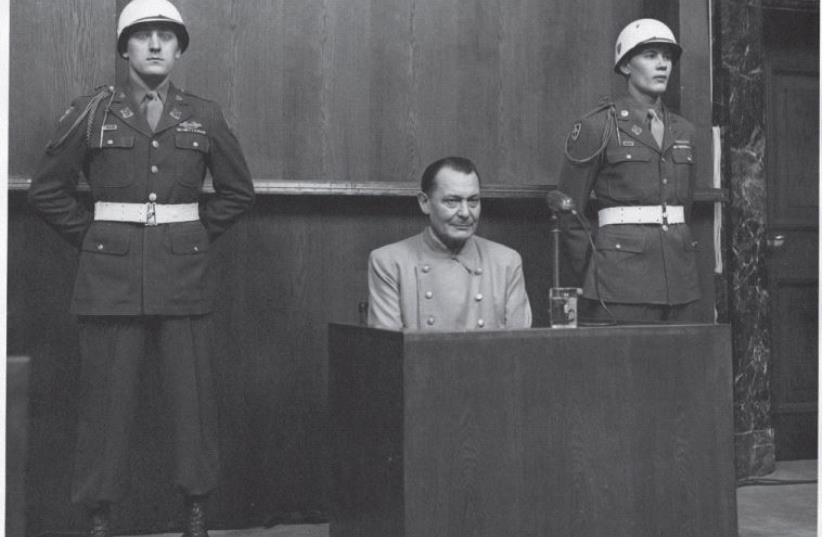 Hermann Goering, pictured at the 1945 Nuremberg Trials, was described by an American warden as a 'simpering slob' (photo credit: Wikimedia Commons)