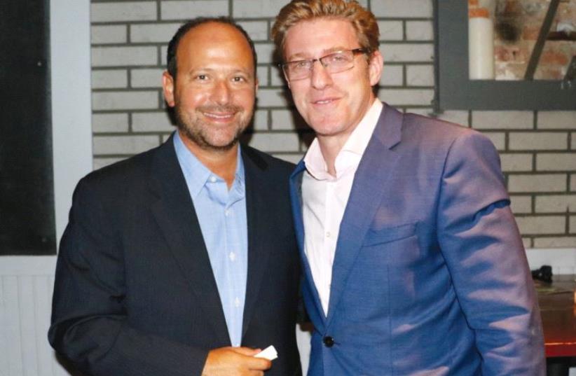 Matthew Hiltzik (left) and Rabbi Mark Wildes at the recent MJE event (photo credit: MJE)