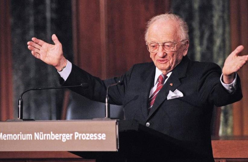 Benjamin Ferencz, now 96, is donating an annual $1 million to the US Holocaust Memorial Museum in Washington, DC (photo credit: BENJAMIN FERENCZ)