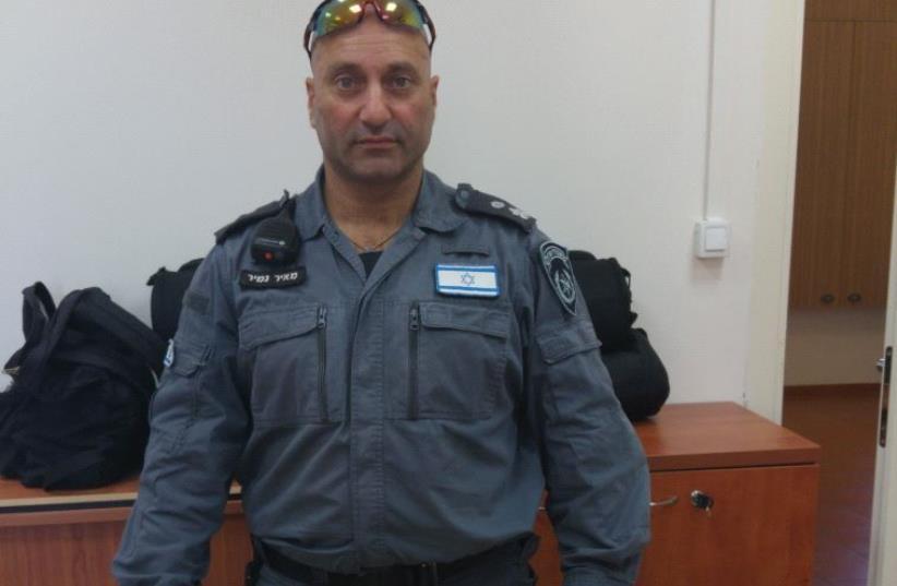 YASAM Special Patrol Unit head Meir Namir at Jerusalem's Russian Compound Police Station Monday. (photo credit: DANIEL K. EISENBUD)