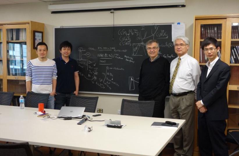 Prof. Mercouri Kanatzidi, third from the right. (photo credit: COURTESY OF PROF. MERCOURI KANATZIDI)
