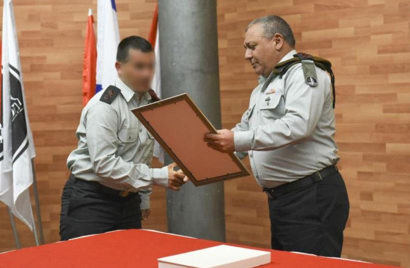 Duvdevan receive citation (photo credit: IDF SPOKESPERSON'S UNIT)