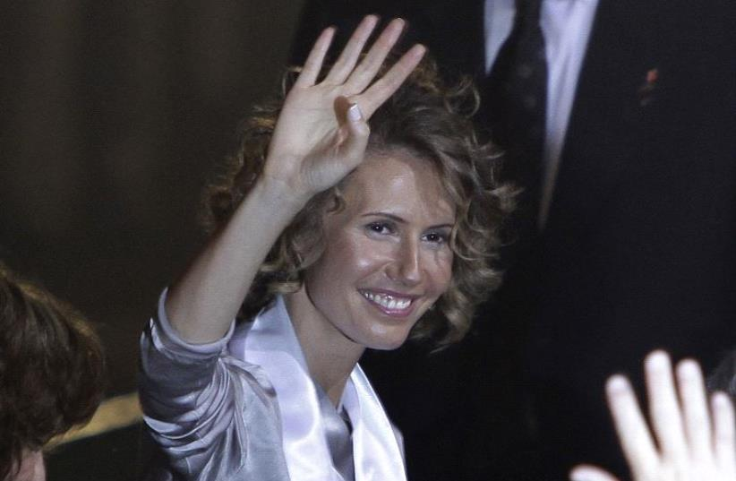 Syria's First Lady Asma al-Assad (photo credit: REUTERS)