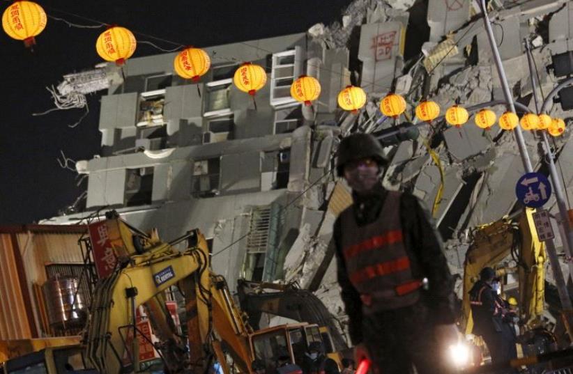 Taiwan earthquake (photo credit: REUTERS)