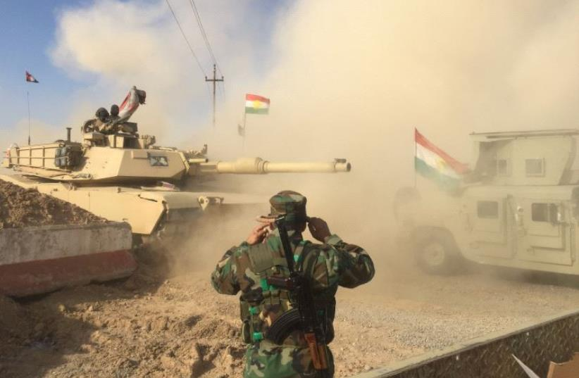 Kurdish Peshmerga forces.  (photo credit: SETH J. FRANTZMAN)