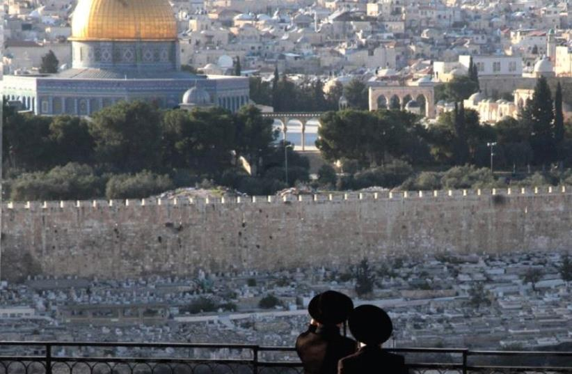 Looking out on the Temple Mount (photo credit: MARC ISRAEL SELLEM)