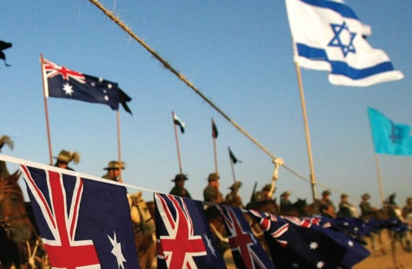 AUSTRALIANS TAKE part in a World War I reenactment near Beersheba in 2007 (photo credit: REUTERS)