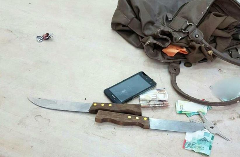 Potential stabbing by female Palestinian thwarted at Cave of the Patriarchs (photo credit: ISRAEL POLICE)