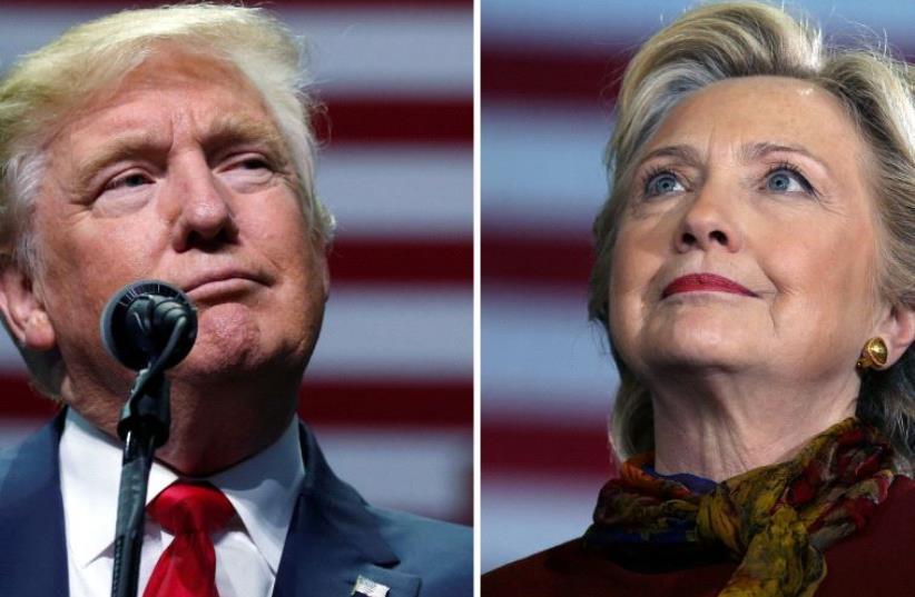 Donald Trump and Hillary Clinton (photo credit: REUTERS)