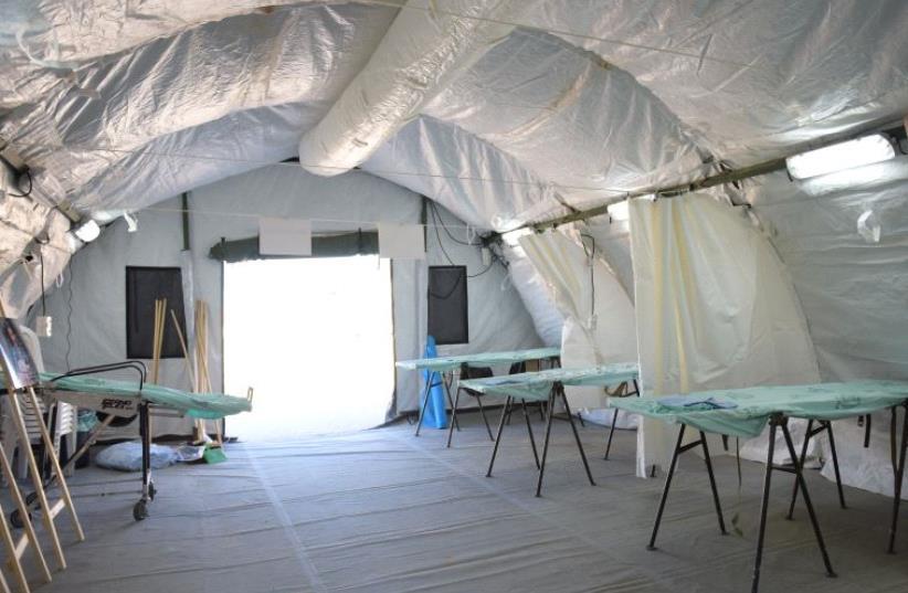Israeli field hospital. (photo credit: IDF SPOKESMAN'S UNIT)