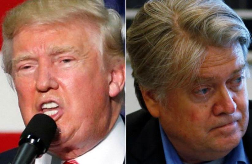 Donald Trump and Steve Bannon (photo credit: REUTERS)