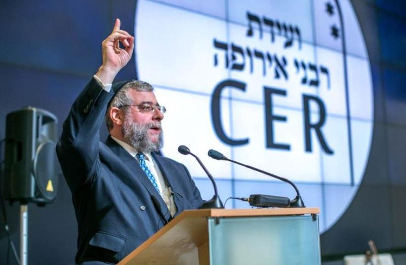 CER President Rabbi Pinchas Goldschmidt  (photo credit: ELI ITIKIN)