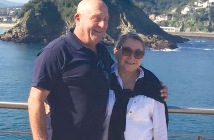 Nitza on vacation with her late husband, Avraham Goldman (photo credit: Courtesy)