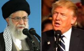 Iran's supreme leader Ali Khamenei and Donald Trump