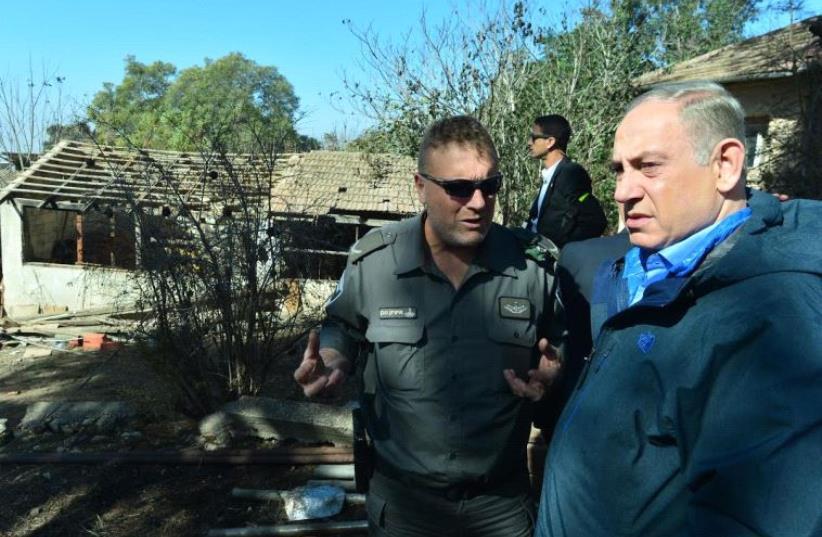 Prime Minister Benjamin Netanyahu visits fire torn Haifa (photo credit: KOBI GIDEON/GPO)