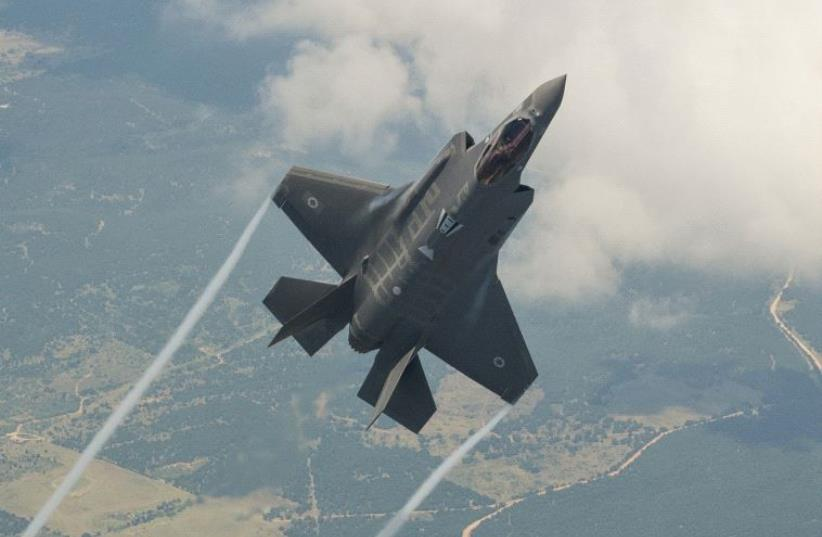 The Lockheed Martin F35 fighter jet plane, also known as the Adir, in a test flight (photo credit: LOCKHEED MARTIN AERONAUTICS/ LIZ LUTZ)