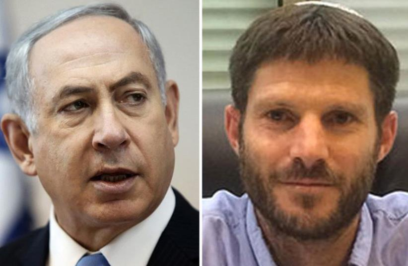 Netanyahu and Smotrich (photo credit: EITAN POLD/WIKIMEDIA,REUTERS)