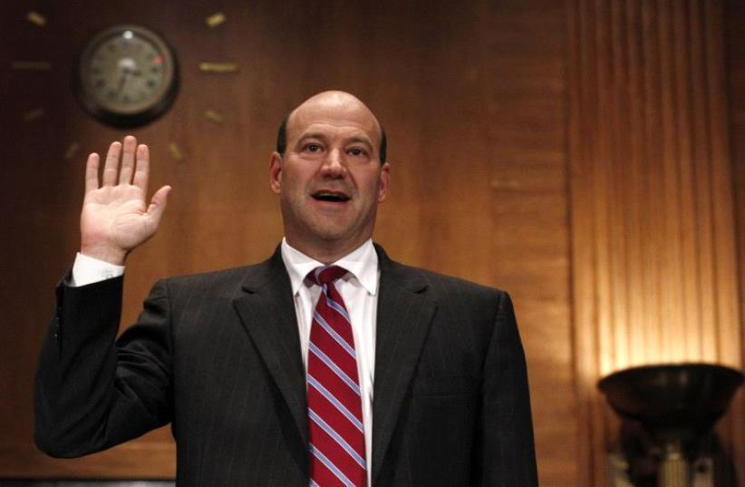 Gary Cohn being sworn in before testifying before the Financial Crisis Inquiry Commission (FCIC) on Capitol Hill in Washington, June 30, 2010. (photo credit: REUTERS)