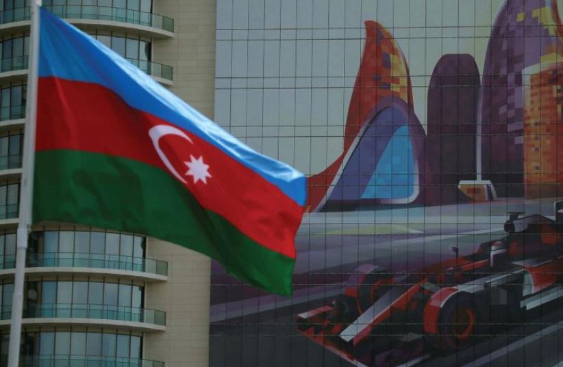 The Azerbaijan flag. (photo credit: REUTERS)