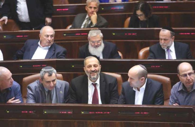 MKs at the Knesset (photo credit: MARC ISRAEL SELLEM)