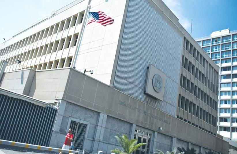 The US embassy in Tel Aviv (photo credit: REUTERS)