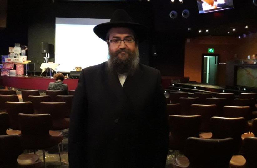 Chabad rabbi Pinchas Vishedski (photo credit: TAMARA ZIEVE)