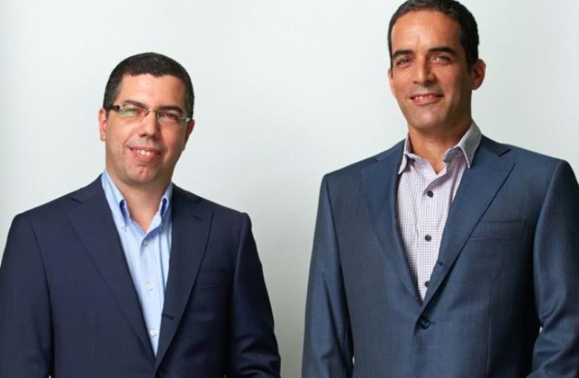 Arik Kleinstein (L) and Kobi Samboursky founders and managing partners of Glilot Capital Partners (photo credit: OFIR ABE)