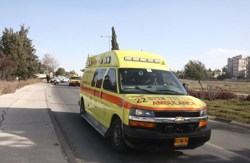 A Magen David Adom ambulance [File] (photo credit: MARC ISRAEL SELLEM/THE JERUSALEM POST)