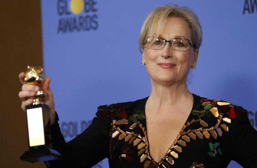 Meryl Streep at the 74th Annual Golden Globe Awards show in Beverly Hills, California, US, January 8, 2017 (photo credit: REUTERS)