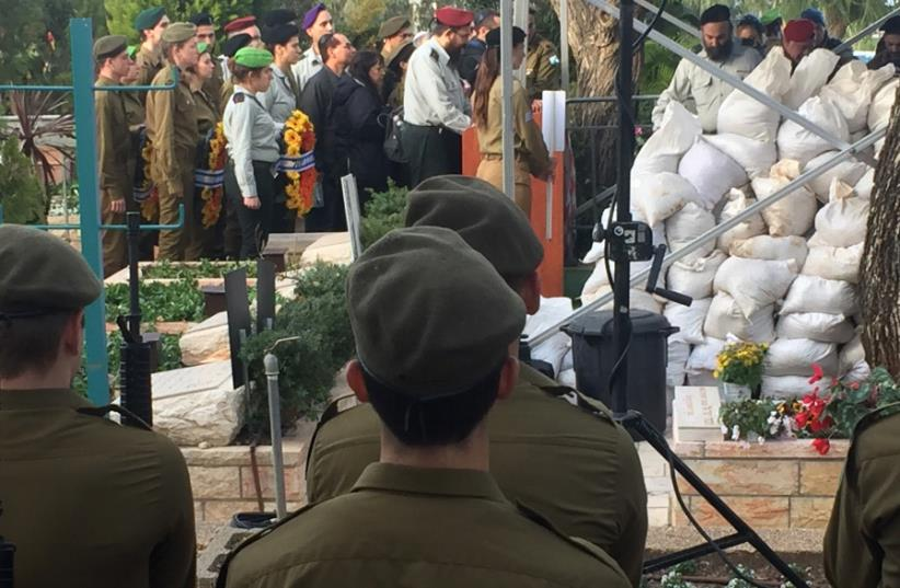 Funeral held for soldiers killed by terror attack in Jerusalem  (photo credit: ANNA AHRONHEIM)