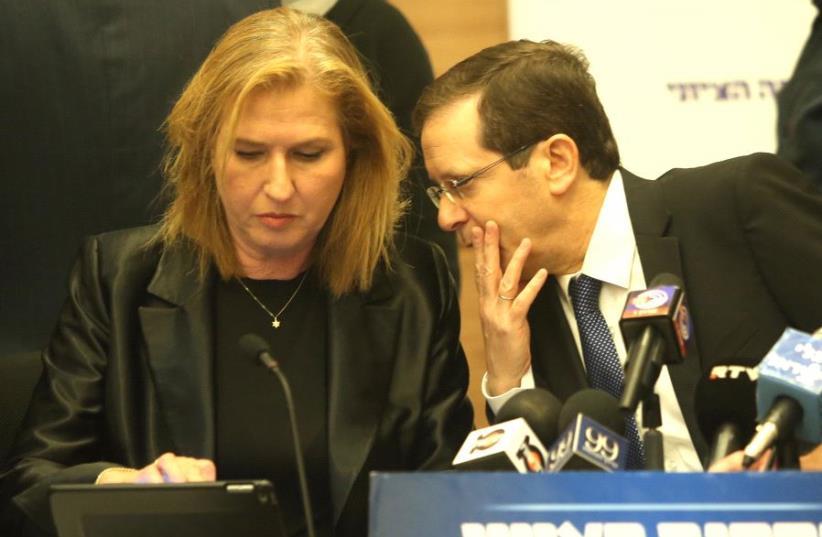 Herzog and Livni (photo credit: MARC ISRAEL SELLEM)