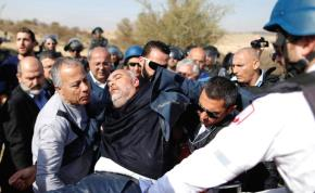 MEDICS EVACUATE MK Osama Sa'adi (Joint List) during a clash between riot police and Arab citizens in Umm al-Hiran