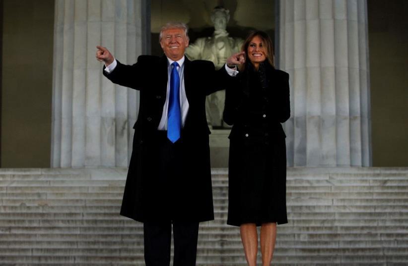 Donald and Melania Trump (photo credit: REUTERS)