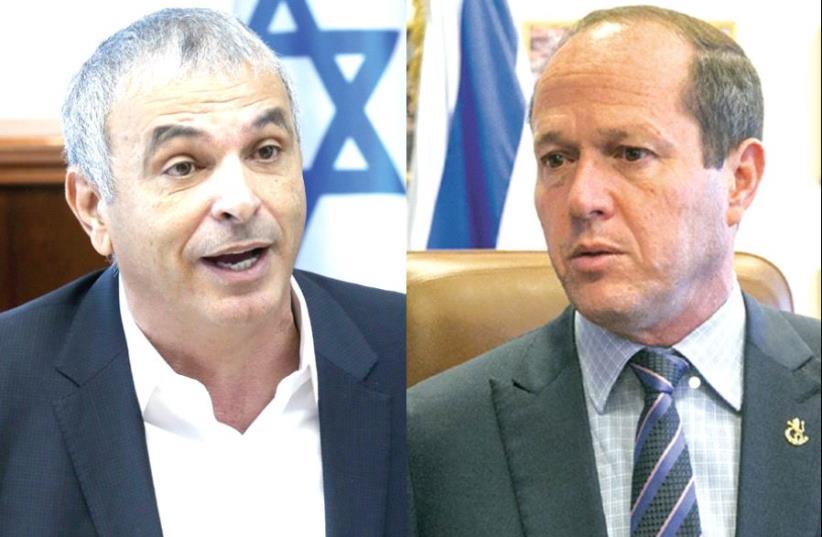 Kahlon and Barkat (photo credit: MARC ISRAEL SELLEM)