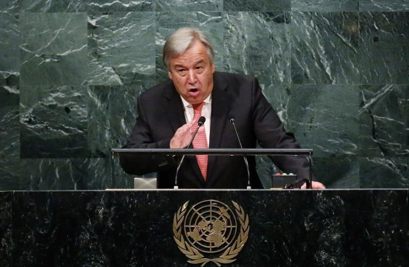 United Nations Secretary-General Antonio Guterres (photo credit: REUTERS)