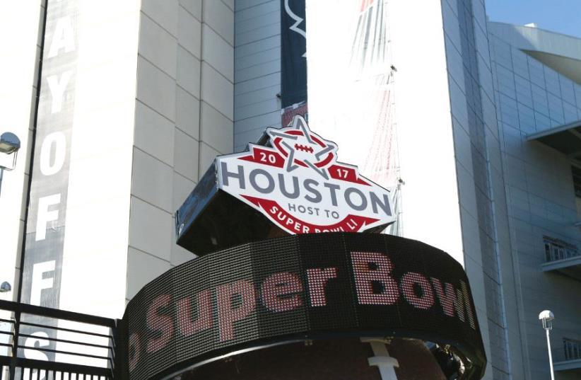 Super Bowl sign (photo credit: REUTERS)