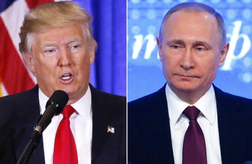 Donald Trump (L) and Vladimir Putin (R) (photo credit: REUTERS)