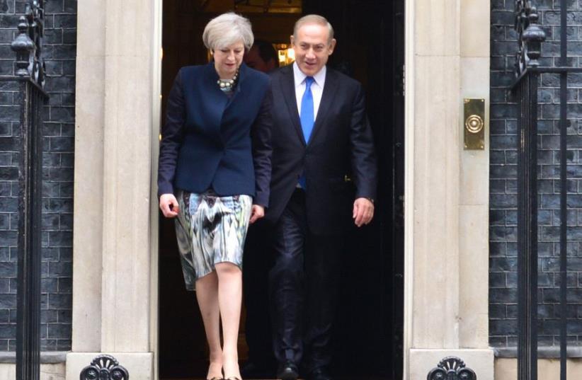 Netanyahu and May in London (photo credit: KOBI GIDEON/GPO)