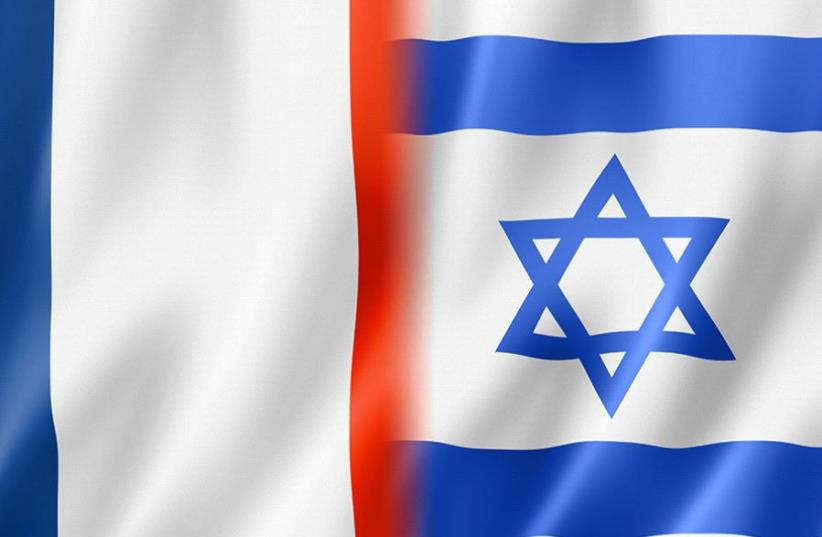 France and Israel flags (photo credit: INGIMAGE)