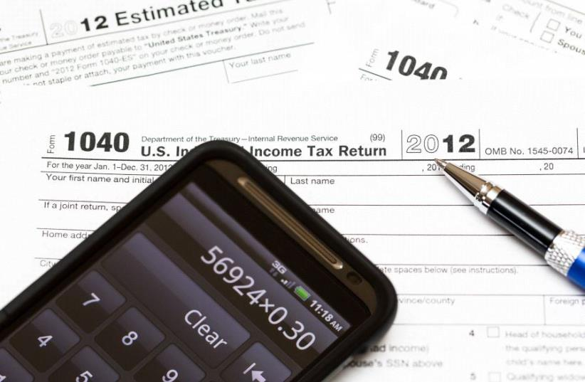 US tax form (illustrative) (photo credit: INGIMAGE)