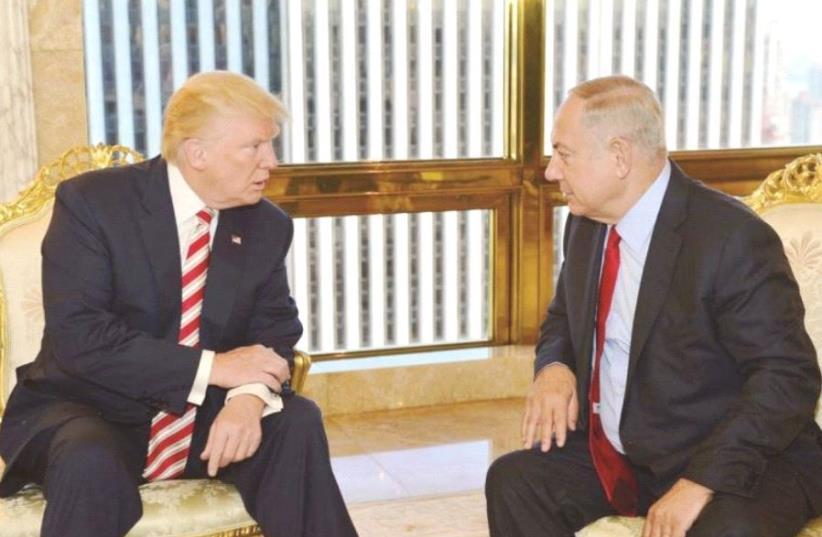 Donald Trump and Benjamin Netanyahu  (photo credit: KOBI GIDEON/GPO)